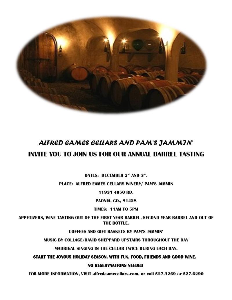 Alfred Eames Cellars Barrel Tasting image